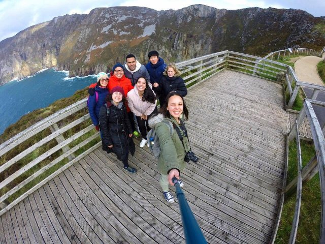 Group selfie at viewpoint